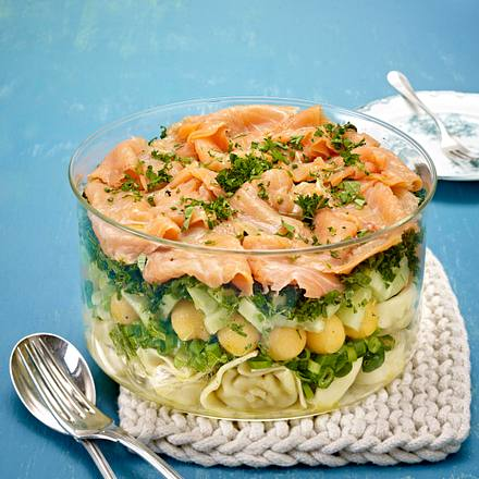 Melonen-Schichtsalat Rezept