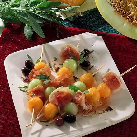 Melonen-Spieße Rezept