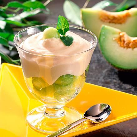Melonencocktail mit Cidrecreme Rezept