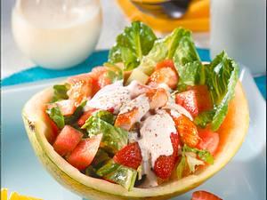 Melonensalat mit Putenstreifen Rezept