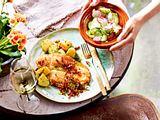 Merilest mit Speck und Gurkensalat Rezept