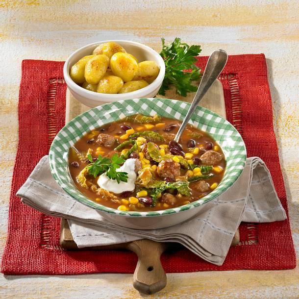 Mettbällchen-Ragout mit Gemüse Rezept