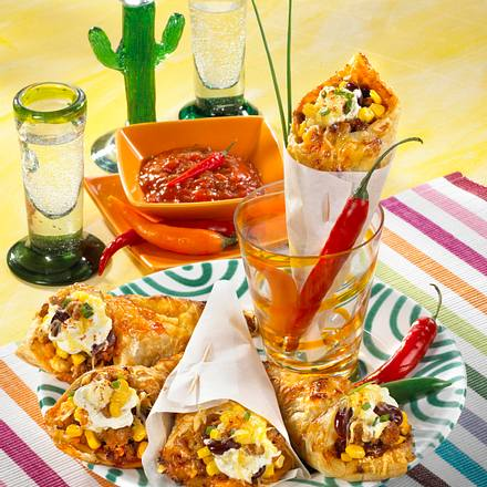 Mexikanische Blätterteig-Tüten Rezept