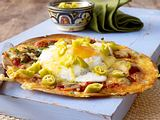 Mexikanische Eier auf Tortillafladen Rezept