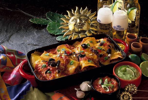 Mexikanische gefüllte Maisfladen mit Dips Rezept