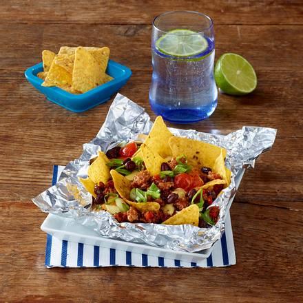 Mexikanische Nachos aus dem Alupäckchen Rezept