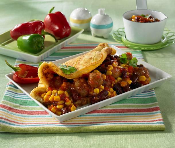 Mexikanische Pfannkuchen mit Hackbällchen Rezept