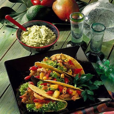 Mexikanische Tacos mit Avocado-Dip Rezept