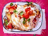 Milchreis-Auflauf mit Erdbeeren und Baiserhaube Rezept