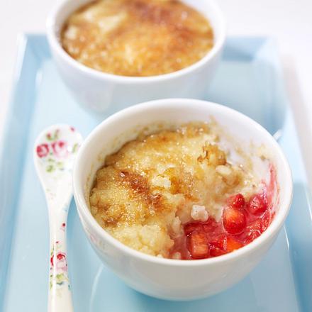 Milchreis brûlée auf frischen Erdbeeren Rezept