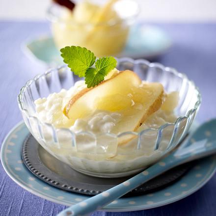 Milchreis mit Apfel-Birnen-Kompott Rezept