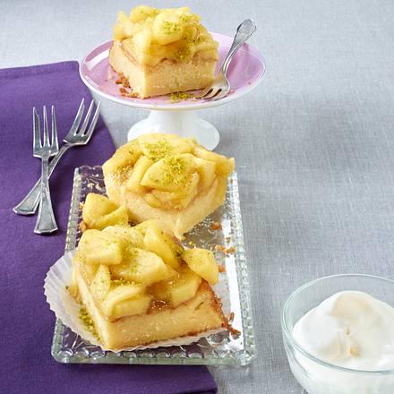 Milchreiskuchen mit Vanillelikör und Apfelkompott Rezept