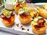 Mini-Cheeseburgermuffins Rezept