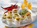 Mini-Enchiladas mit Guacamole (mit frischen Tomaten) Rezept
