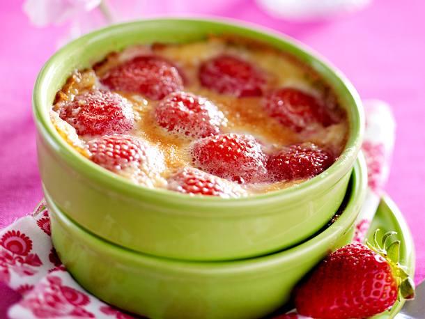 Mini-Erdbeer-Clafoutis Rezept