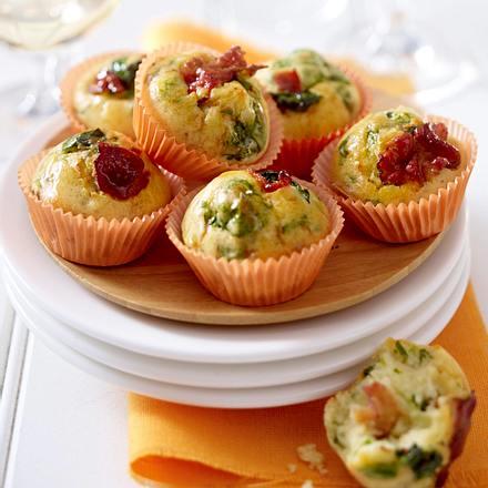 Mini-Muffins mit Spinat Rezept