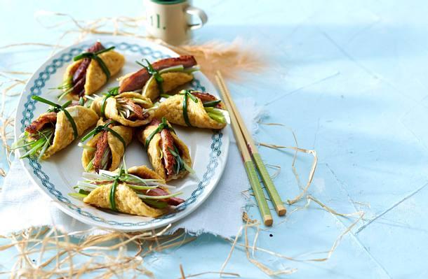 Mini-Omelett-Rolls mit Entenbrust Rezept
