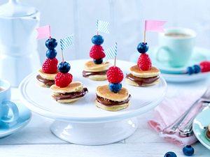 Mini-Pancake-Spieße Rezept