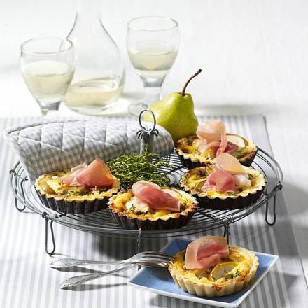 Mini-Quiche mit Parmaschinken Rezept