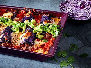 Mini-Rotkohl-Enchiladas Rezept