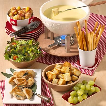 Mini-Salbeischnitzel (Schweizer Käse-Fondue) Rezept