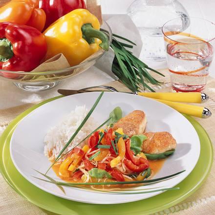 Mini-Schnitzel mit Paprika Rezept