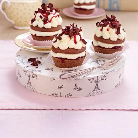 Mini Schwarzwalder Kirsch Oder Muffins Schwarzwalder Art Rezept