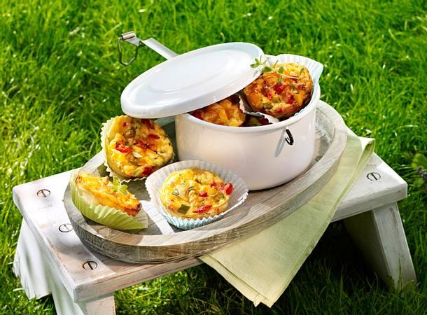 Mini-Tarteletts mit Paprika und Mais Rezept