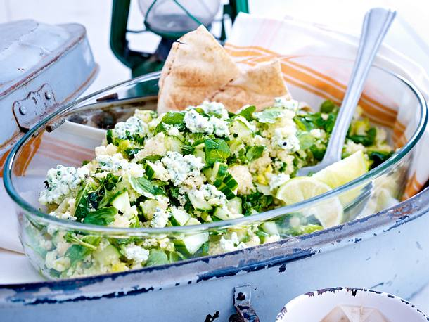 Minze-Couscous-Salat mit Hüttenkäse Rezept
