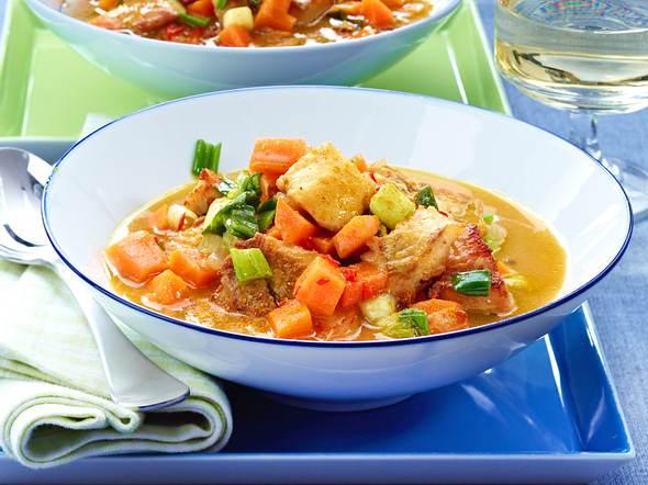 Möhren-Fisch-Ragout mit Chili Rezept
