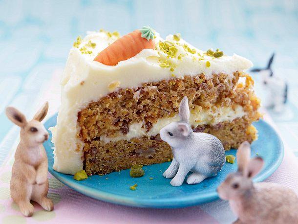 Möhrchen-Kuchen mit Pekannüssen Rezept
