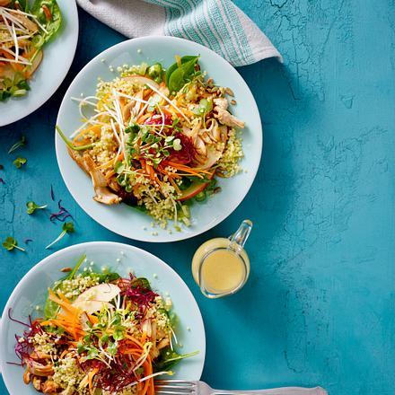 Möhren-Apfel-Salat mit Hirse Rezept