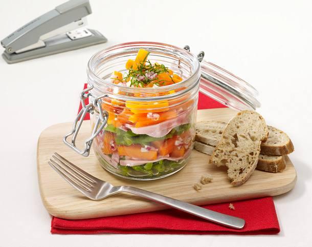Möhren-Bohnen-Salat Rezept