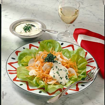 Möhren-Champignon-Rohkost Rezept