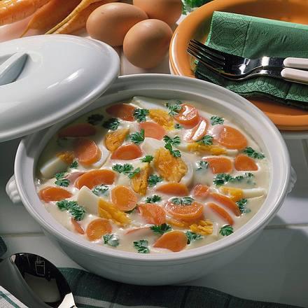 Möhren-Eier-Ragout Rezept