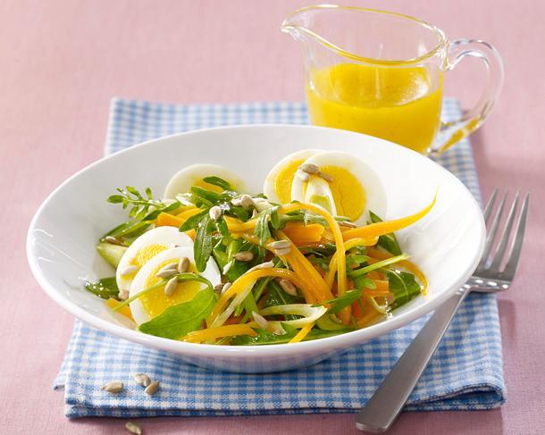 Möhren-Eiersalat Rezept