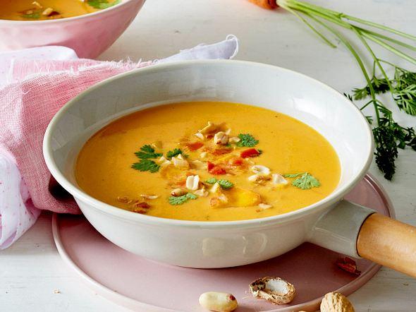 Möhren-Erdnuss-Suppe Rezept