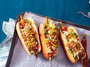 Möhren-Hotdogs mit cremigem Kichererbsensalat Rezept-F8621801