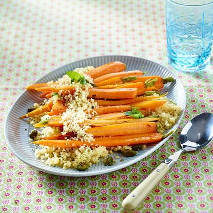 Möhren mit Minz-Couscous Rezept