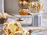 Möhren-Muffins mit Käsekuchen-Füllung Rezept