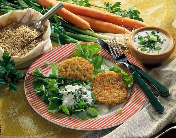 Möhren-Reis-Puffer Rezept
