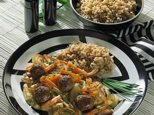 Möhrencurry mit Austernpilze und Fleischbällchen Rezept