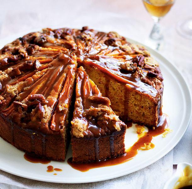 m hrenkuchen mit gew rz sahnekaramell rezept chefkoch rezepte auf kochen backen. Black Bedroom Furniture Sets. Home Design Ideas