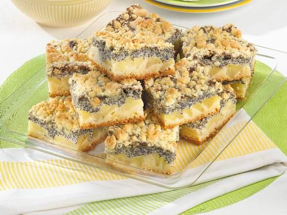 Mohn-Apfelkuchen mit Butterstreuseln Rezept