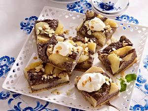 Mohn-Grieß-Birnen-Kuchen vom Blech Rezept