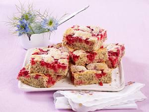 Mohn-Johannisbeer-Kuchen Rezept