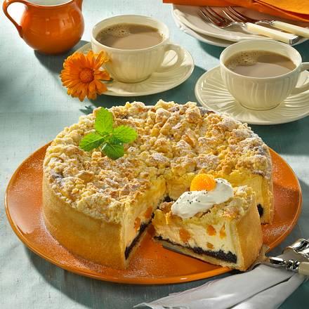 Mohn-Mandarinen-Torte mit Knusperhaube Rezept