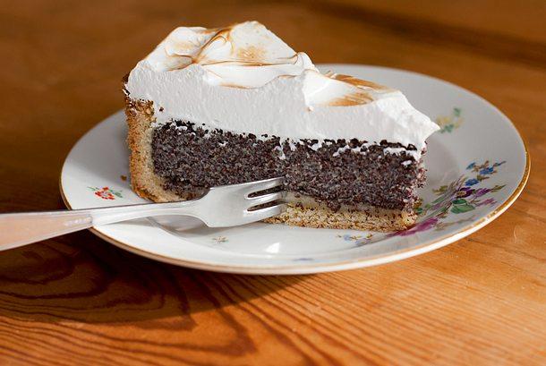 Mohn Marzipan Kuchen Mit Baiser Rezept Lecker