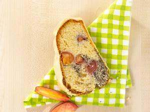 Mohn-Pfirsich-Marmorkuchen Rezept