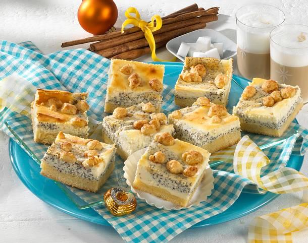Mohn-Quark-Blechkuchen mit Zimtstreuseln Rezept